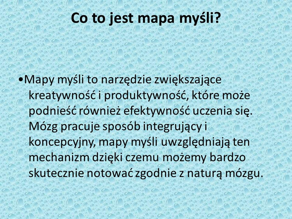 Co to jest mapa myśli