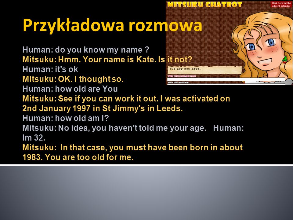 Przykładowa rozmowa Human: do you know my name