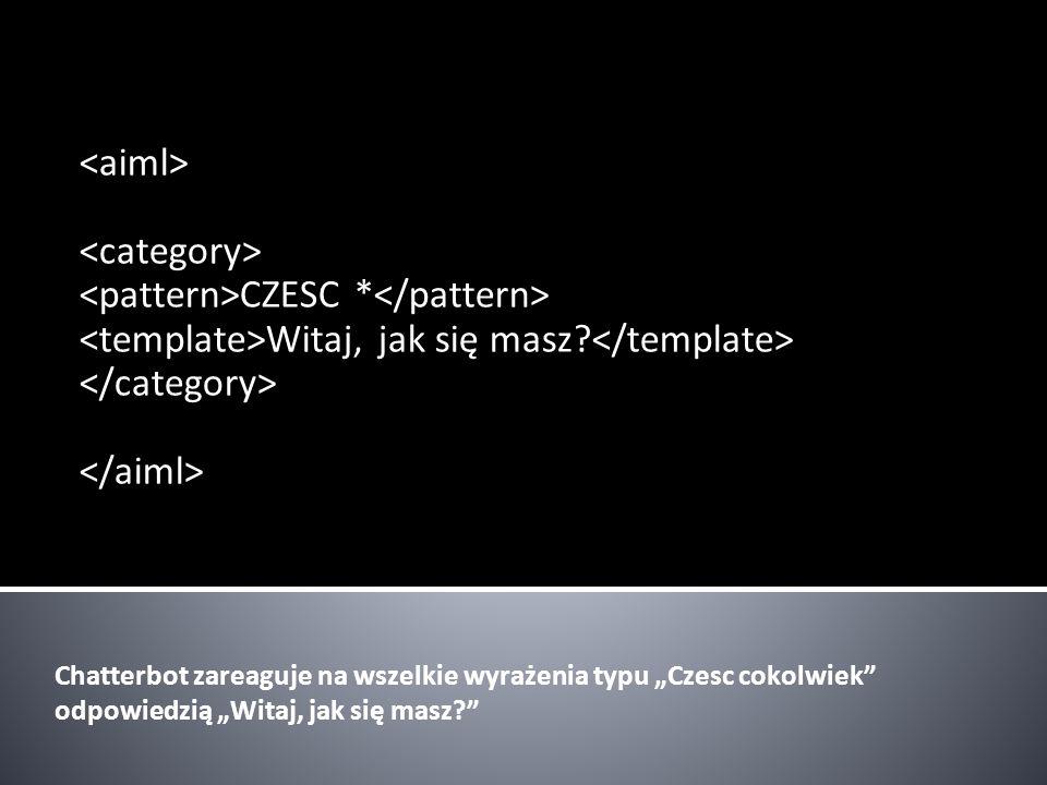 <pattern>CZESC *</pattern>