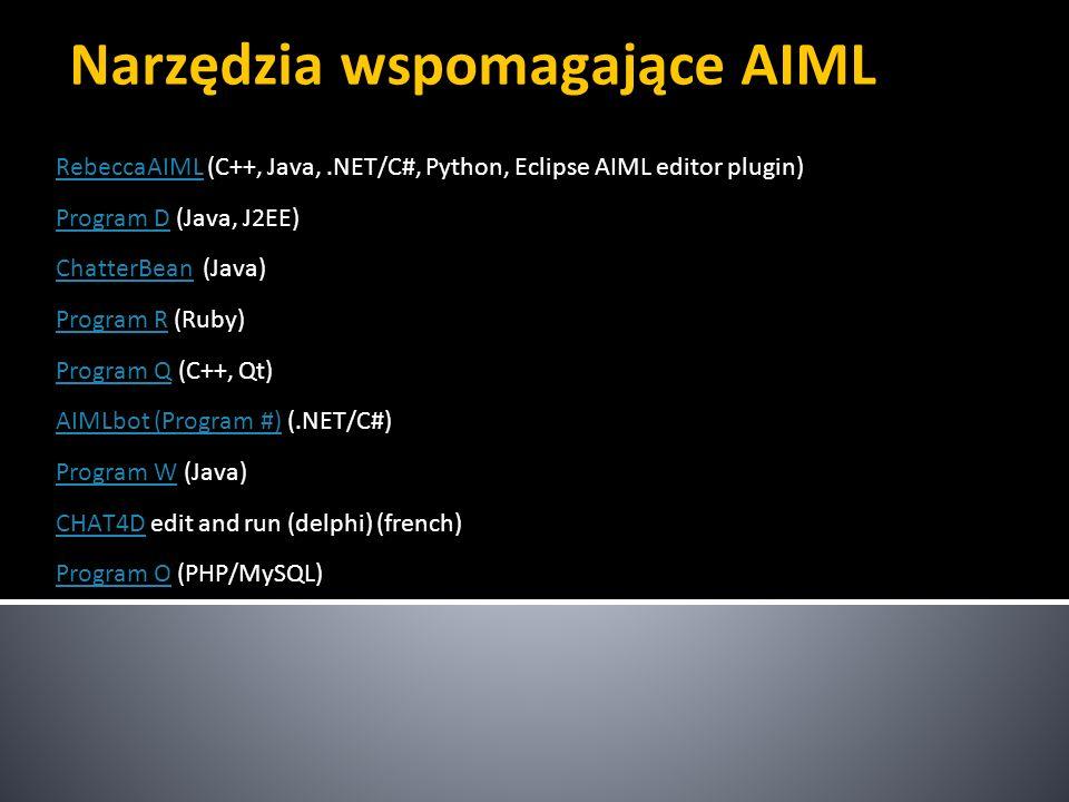 Narzędzia wspomagające AIML