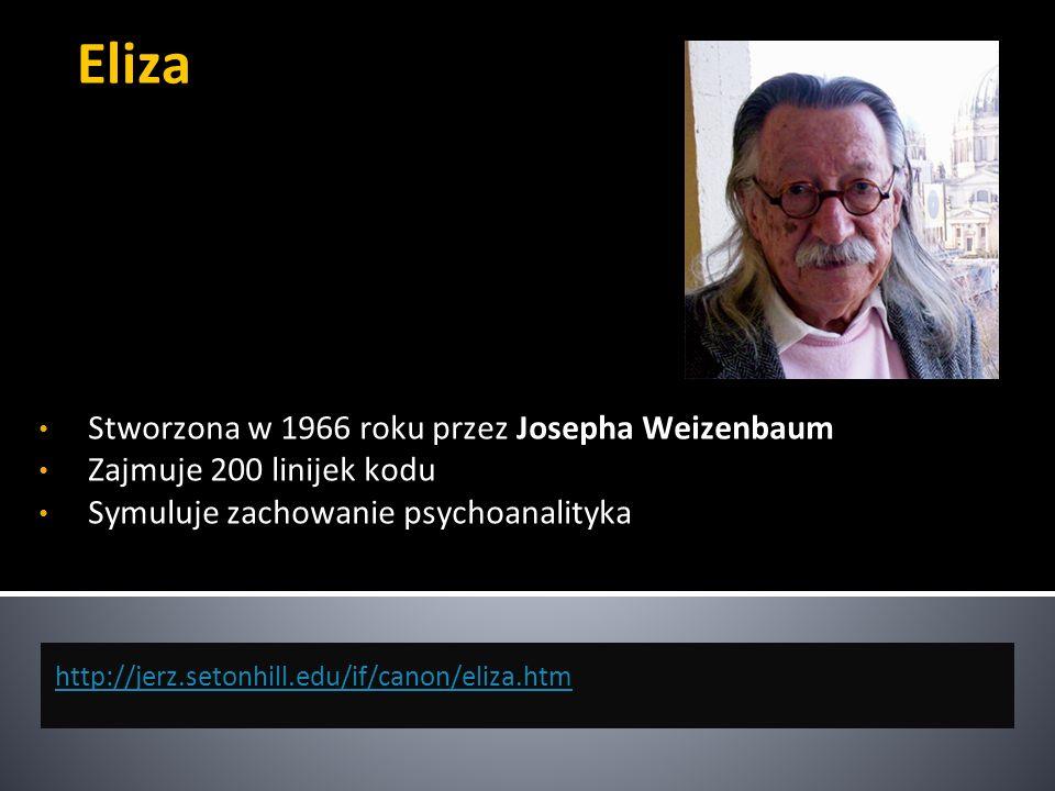 Eliza Stworzona w 1966 roku przez Josepha Weizenbaum