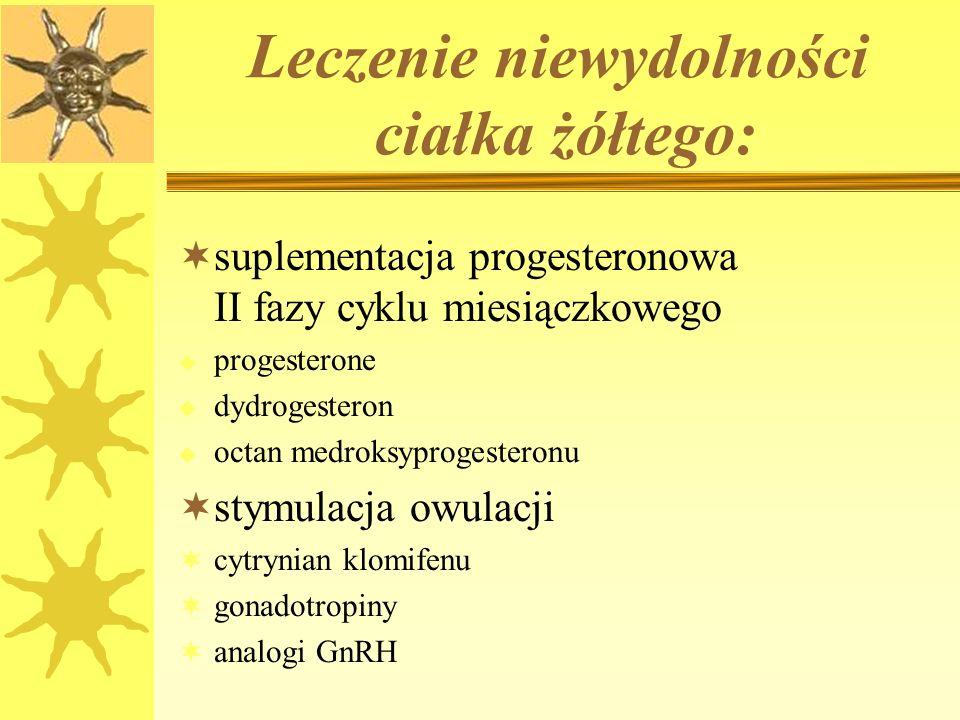 Leczenie niewydolności ciałka żółtego: