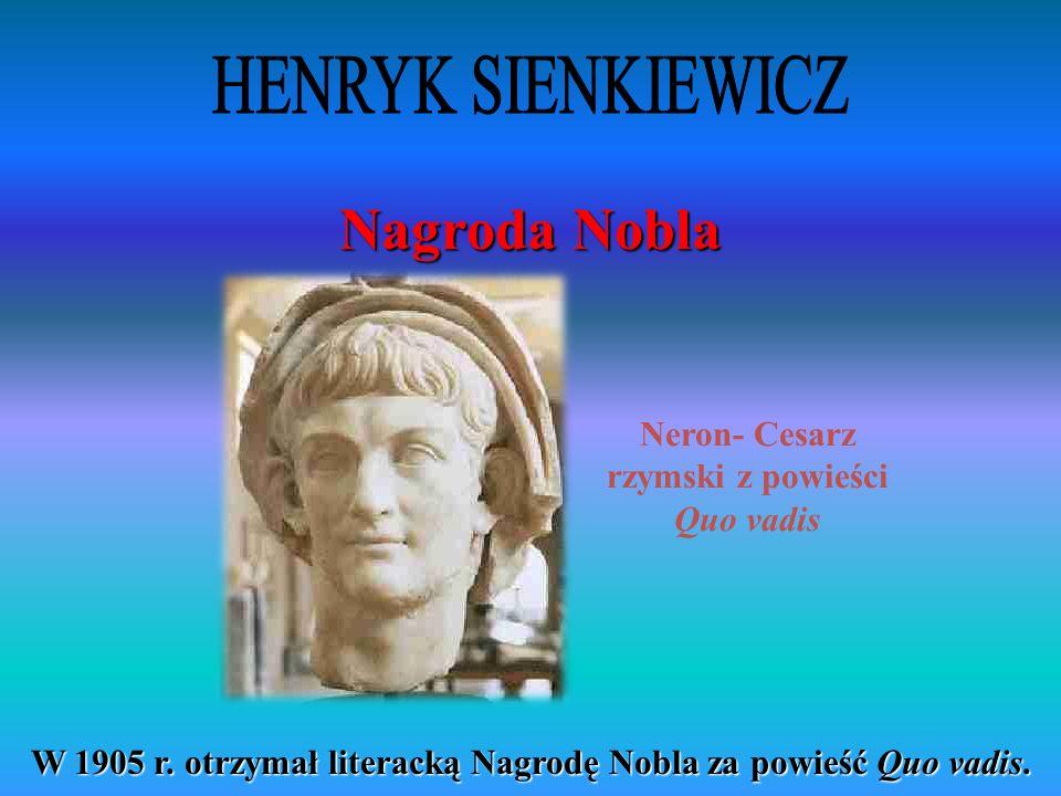 Neron- Cesarz rzymski z powieści Quo vadis
