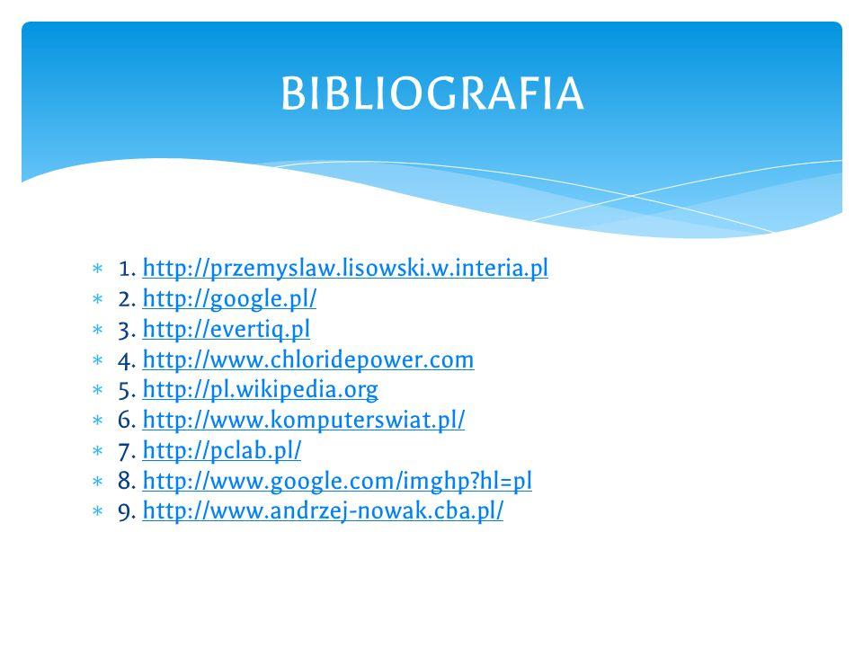 BIBLIOGRAFIA 1. http://przemyslaw.lisowski.w.interia.pl