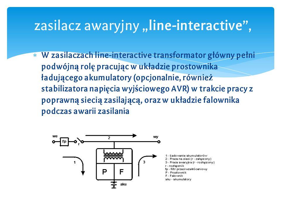 """zasilacz awaryjny """"line-interactive ,"""