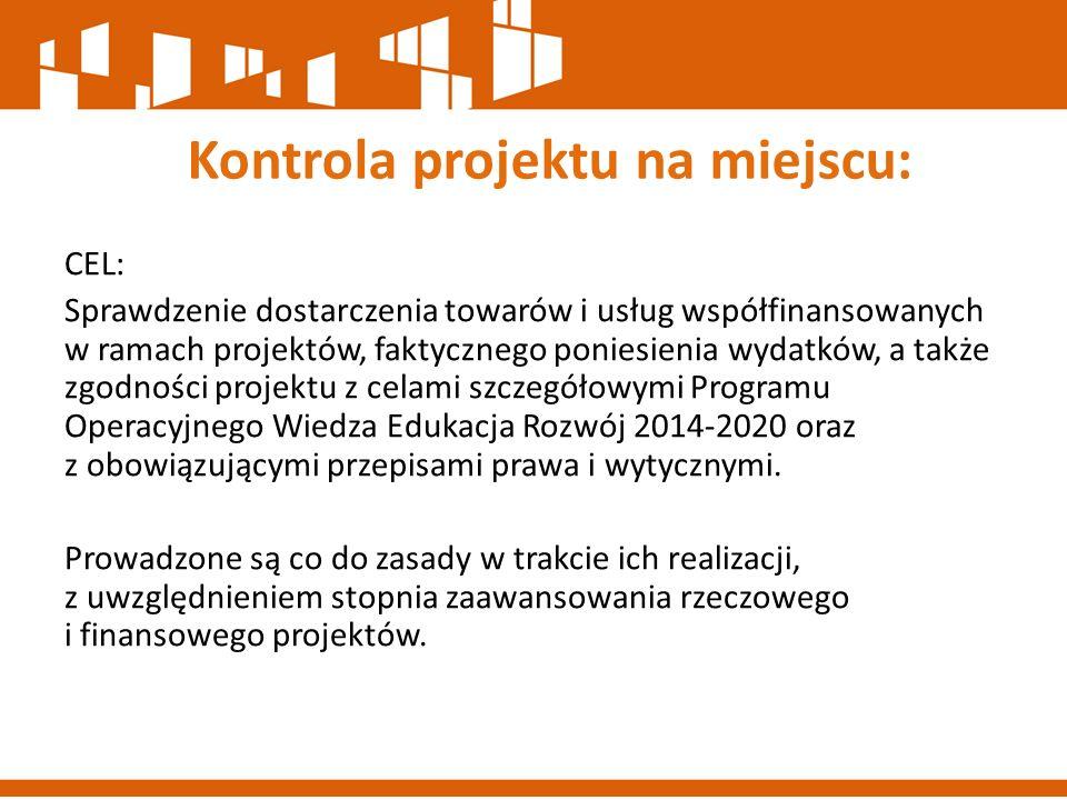 Kontrola projektu na miejscu: