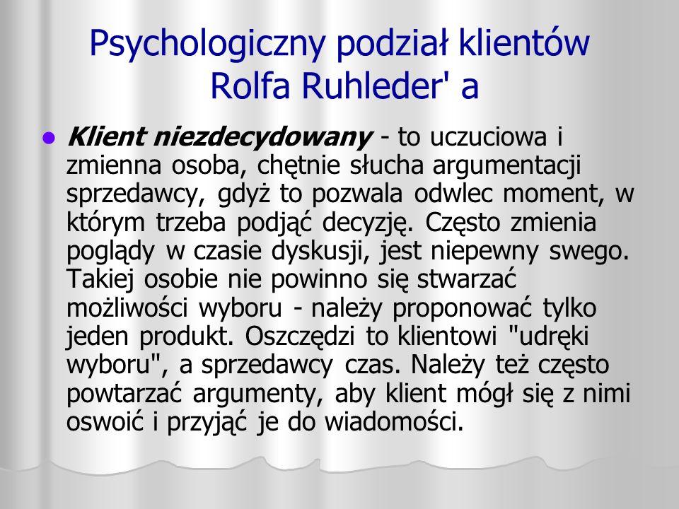 Psychologiczny podział klientów Rolfa Ruhleder a
