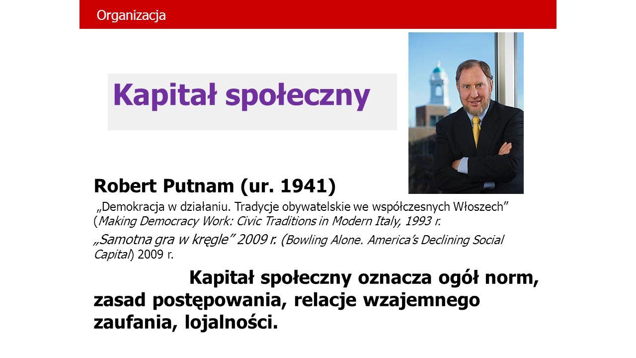 Kapitał społeczny Robert Putnam (ur. 1941)