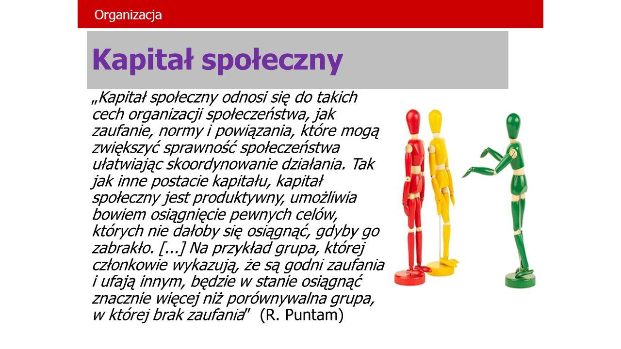 Organizacja Kapitał społeczny.