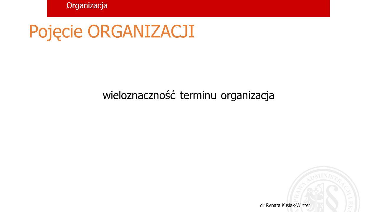 wieloznaczność terminu organizacja