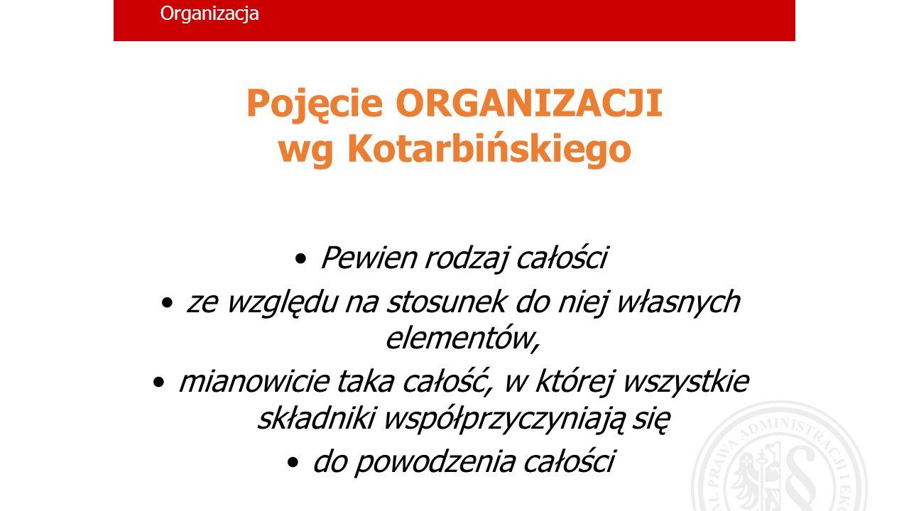 Pojęcie ORGANIZACJI wg Kotarbińskiego