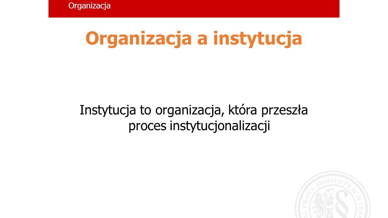 Organizacja a instytucja