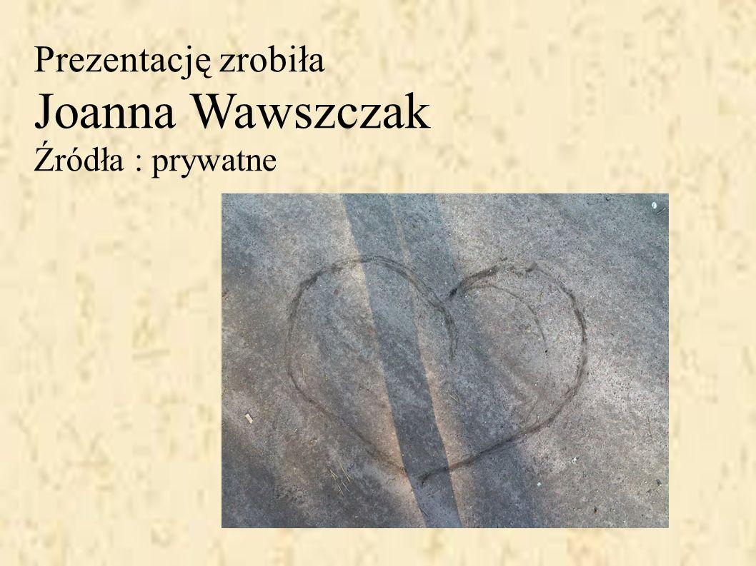 Prezentację zrobiła Joanna Wawszczak Źródła : prywatne