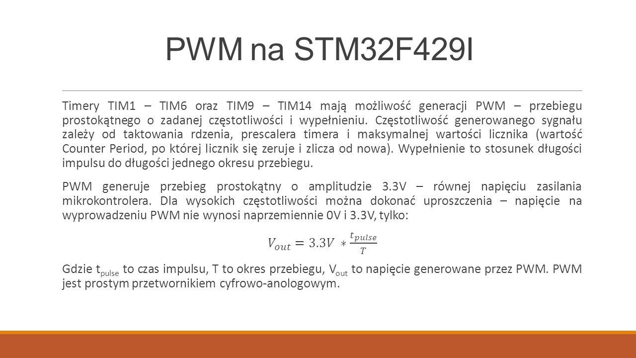 PWM na STM32F429I