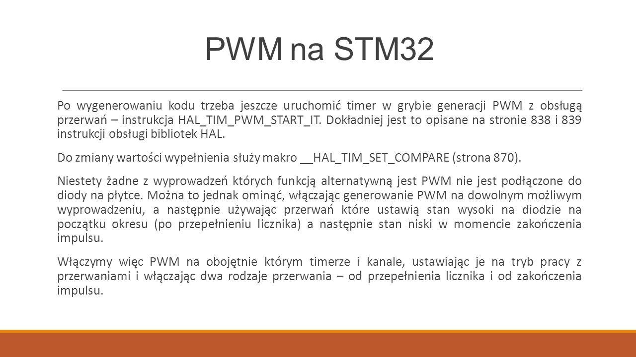 PWM na STM32