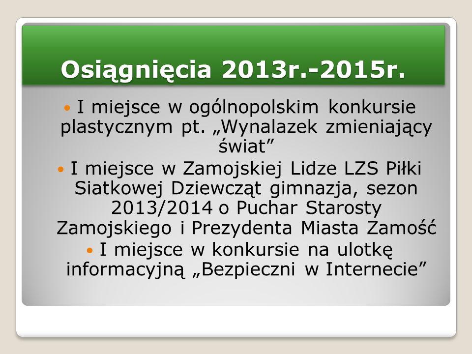 """I miejsce w konkursie na ulotkę informacyjną """"Bezpieczni w Internecie"""