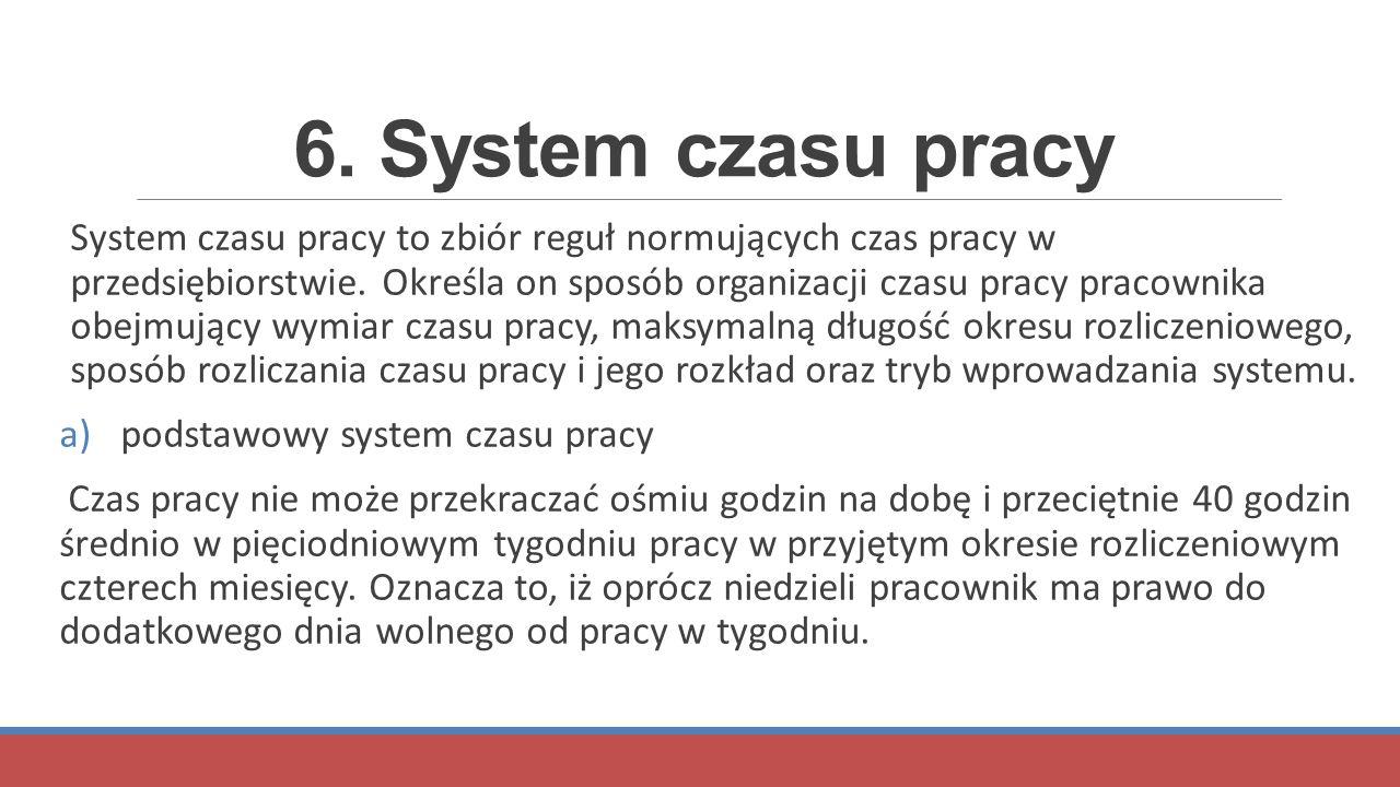 6. System czasu pracy
