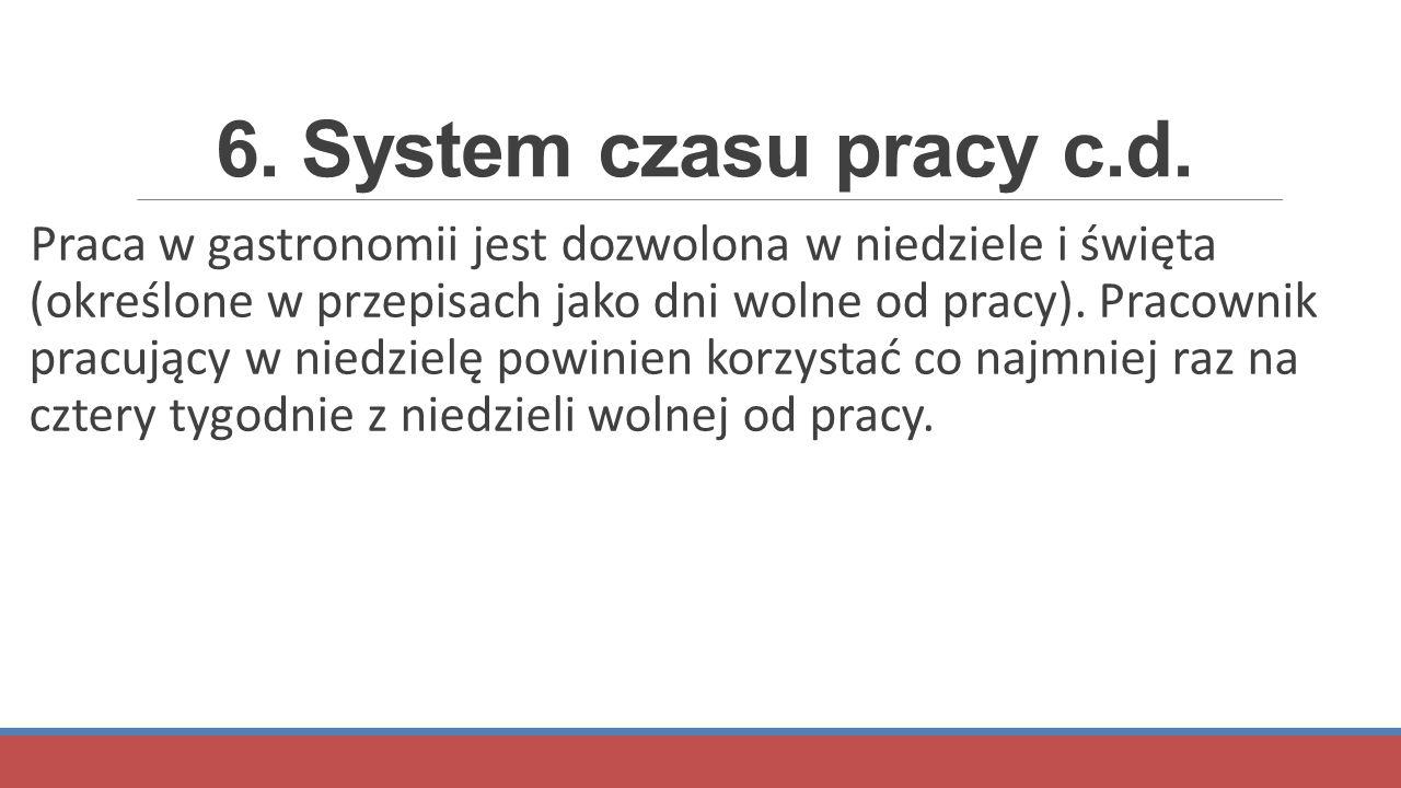 6. System czasu pracy c.d.