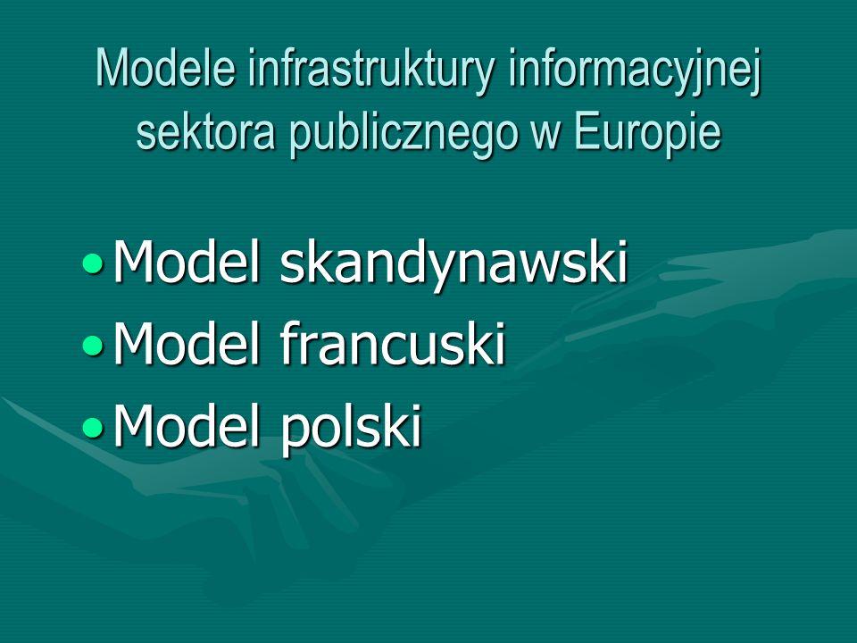 Modele infrastruktury informacyjnej sektora publicznego w Europie
