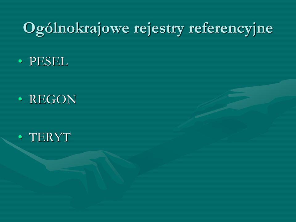 Ogólnokrajowe rejestry referencyjne