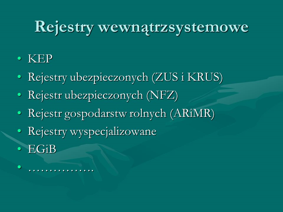 Rejestry wewnątrzsystemowe