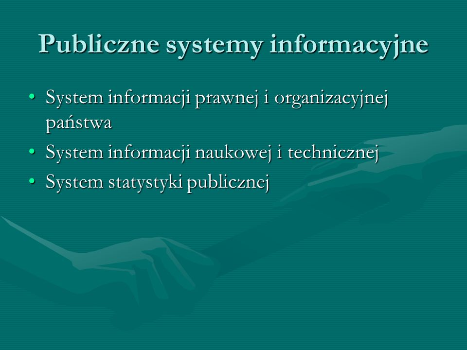 Publiczne systemy informacyjne