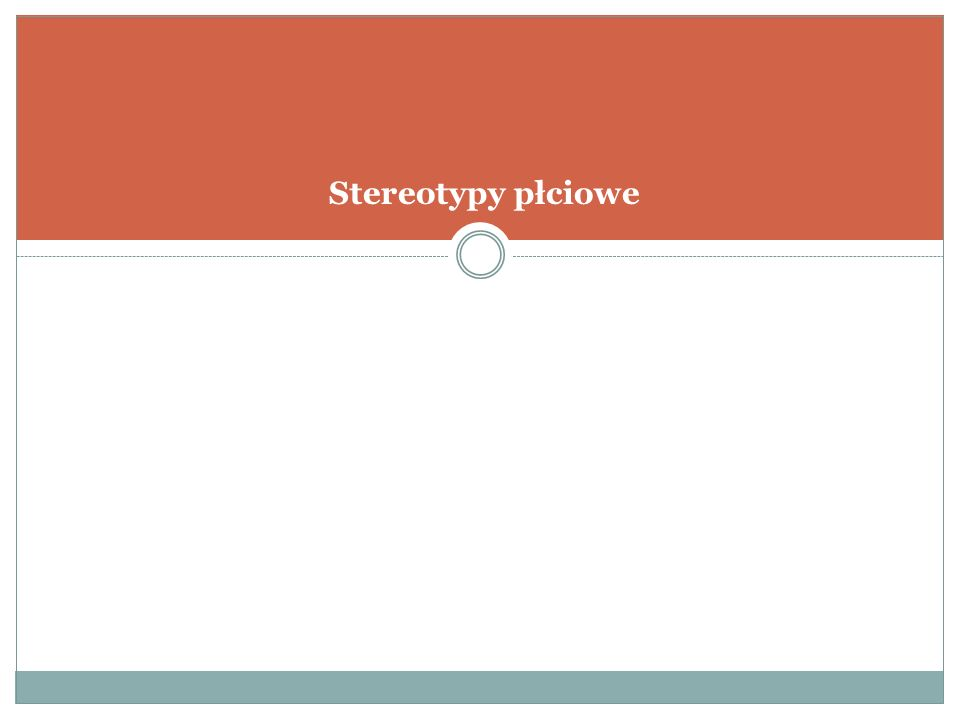 Stereotypy płciowe