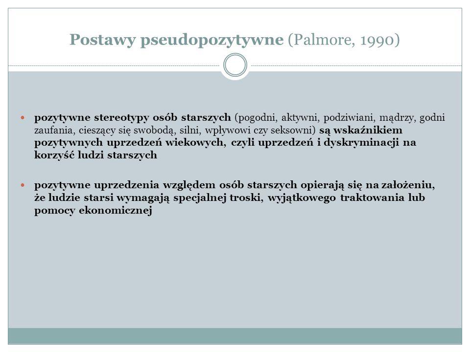 Postawy pseudopozytywne (Palmore, 1990)