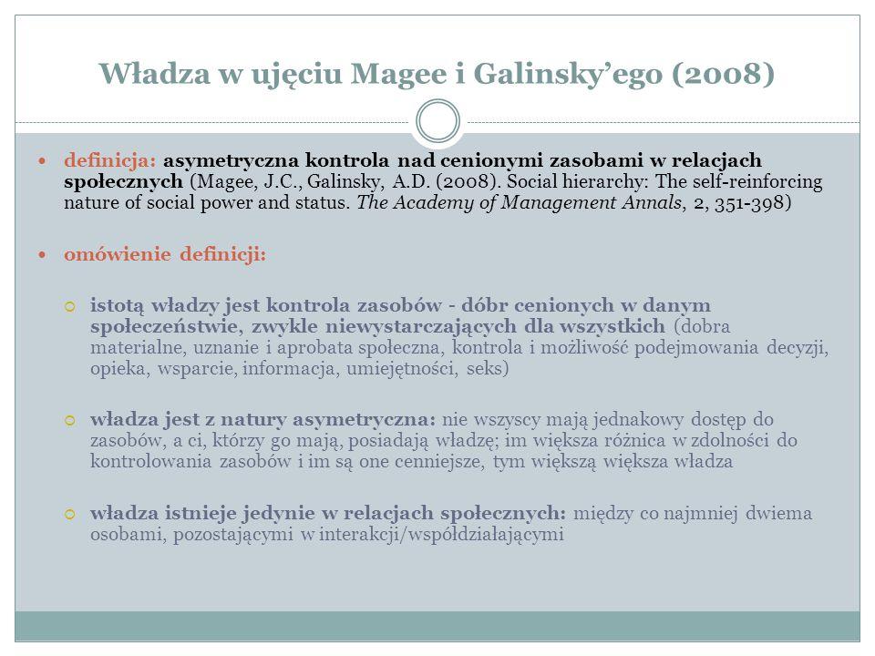 Władza w ujęciu Magee i Galinsky'ego (2008)