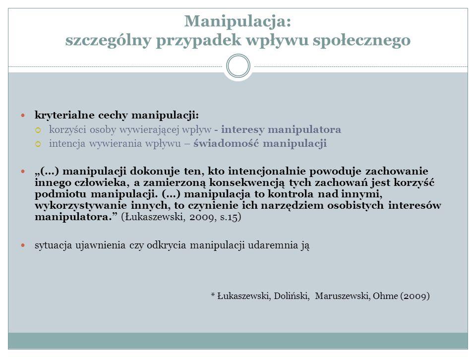 Manipulacja: szczególny przypadek wpływu społecznego