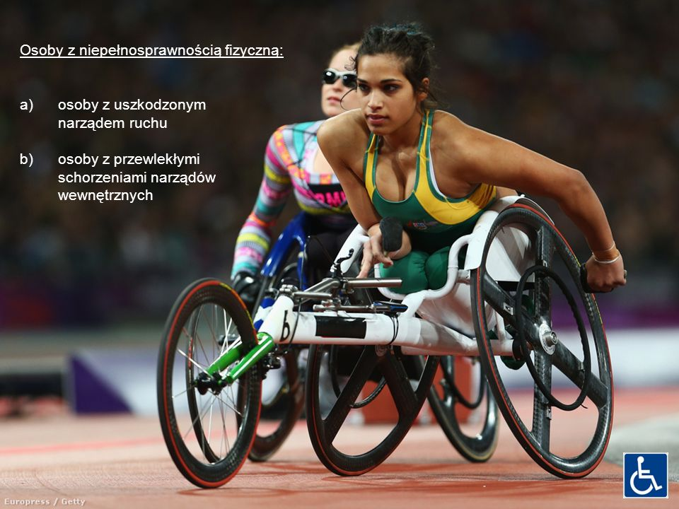 Osoby z niepełnosprawnością fizyczną: