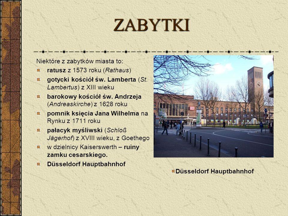 ZABYTKI Niektóre z zabytków miasta to: ratusz z 1573 roku (Rathaus)