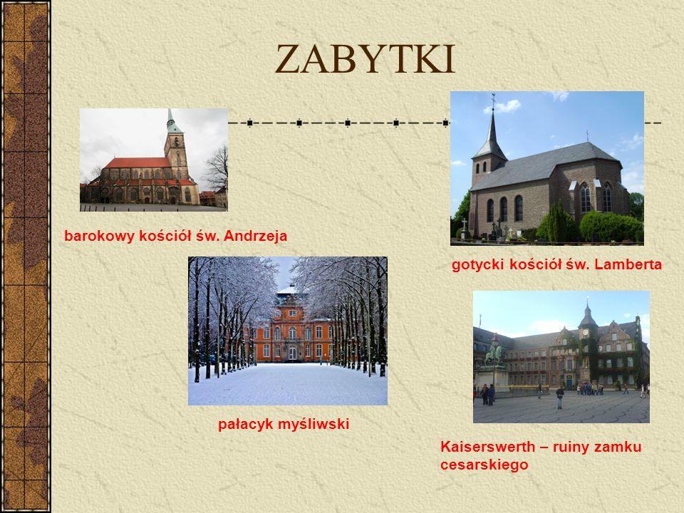 ZABYTKI barokowy kościół św. Andrzeja gotycki kościół św. Lamberta