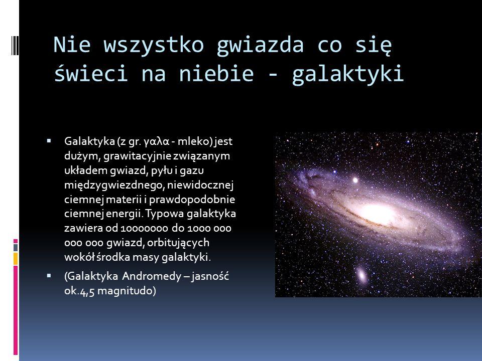 Nie wszystko gwiazda co się świeci na niebie - galaktyki