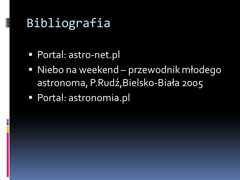 Bibliografia Portal: astro-net.pl