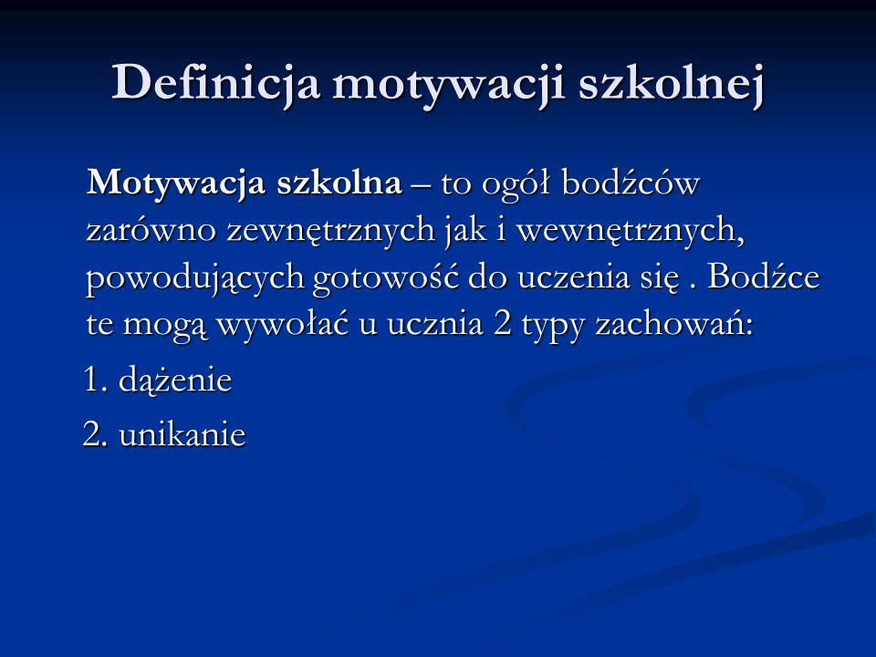 Definicja motywacji szkolnej