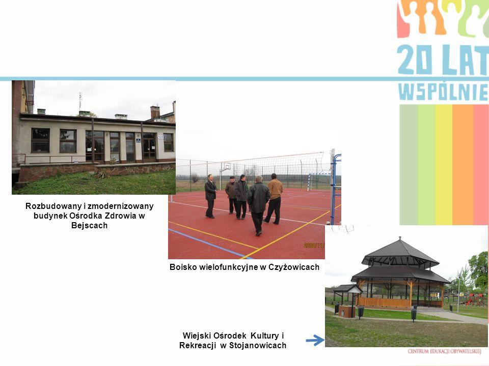 Rozbudowany i zmodernizowany budynek Ośrodka Zdrowia w Bejscach