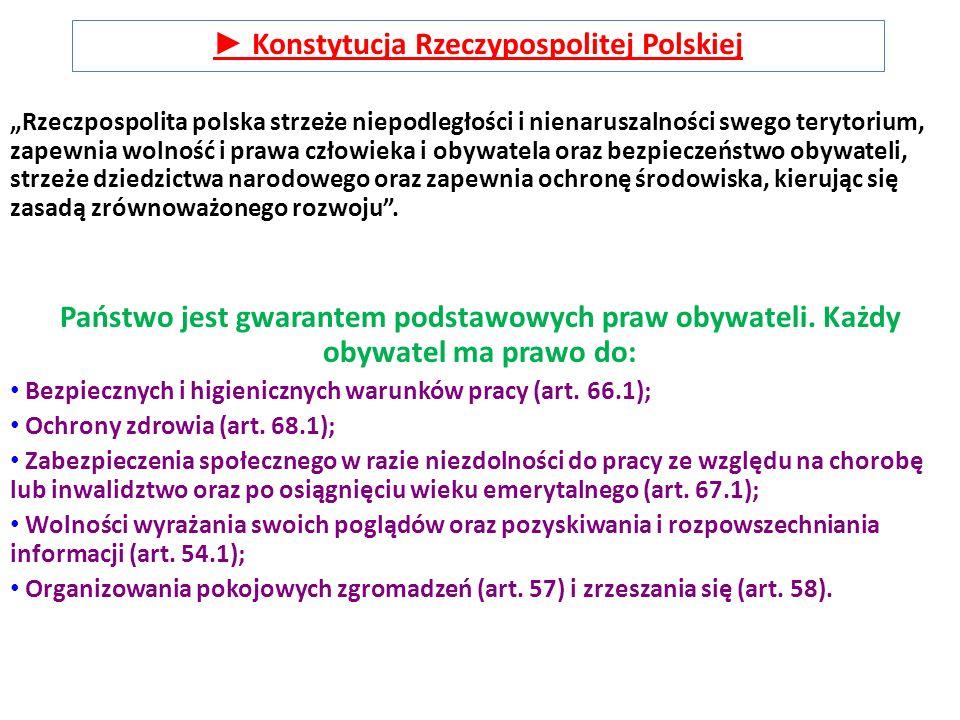 ► Konstytucja Rzeczypospolitej Polskiej