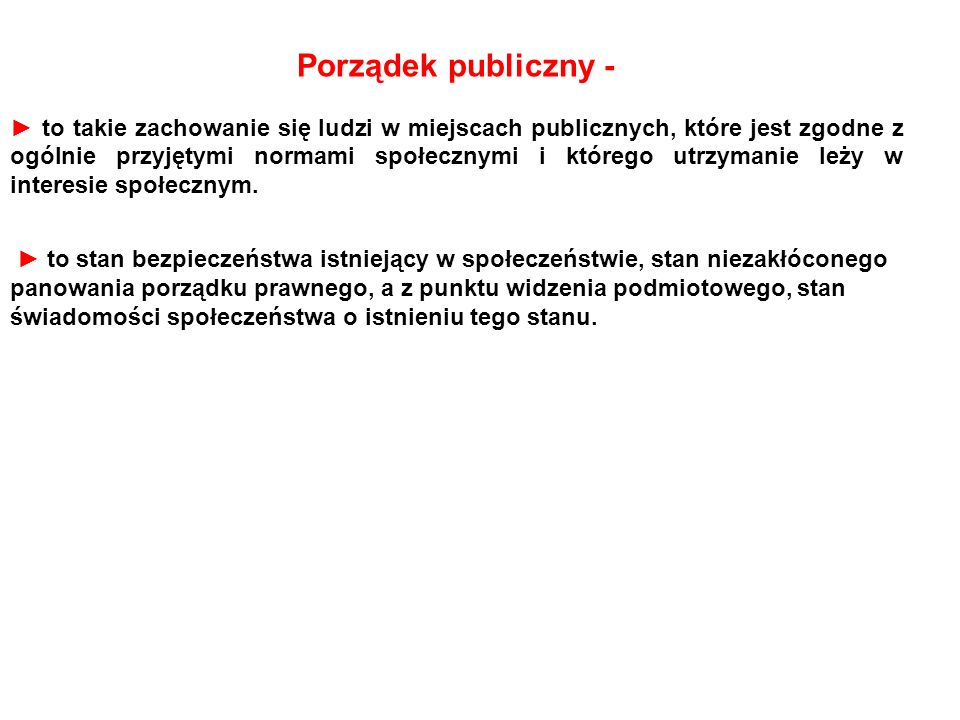 Porządek publiczny -