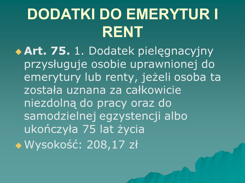 DODATKI DO EMERYTUR I RENT