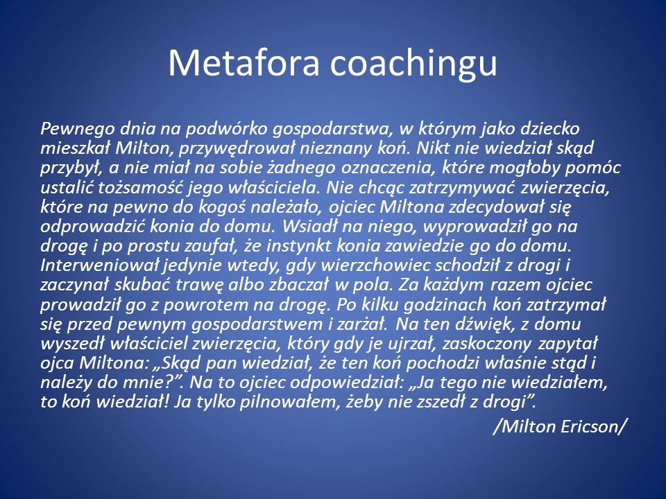 Metafora coachingu