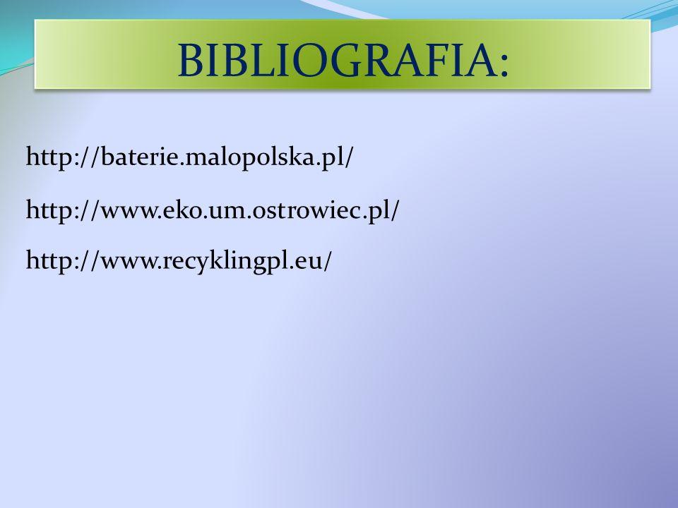 BIBLIOGRAFIA: http://baterie.malopolska.pl/
