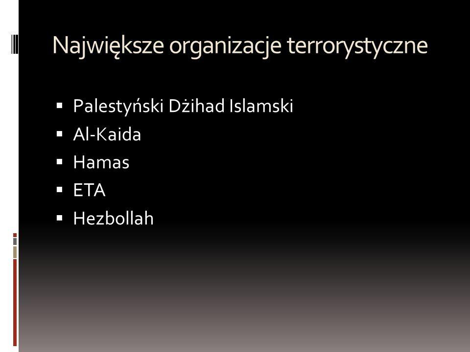 Największe organizacje terrorystyczne