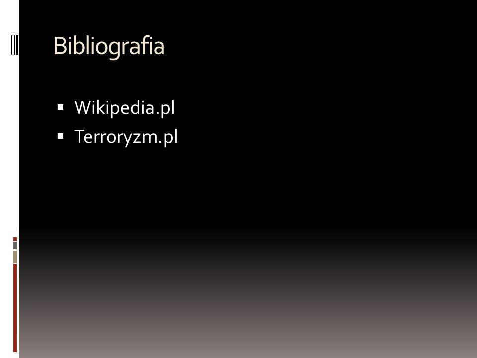 Bibliografia Wikipedia.pl Terroryzm.pl
