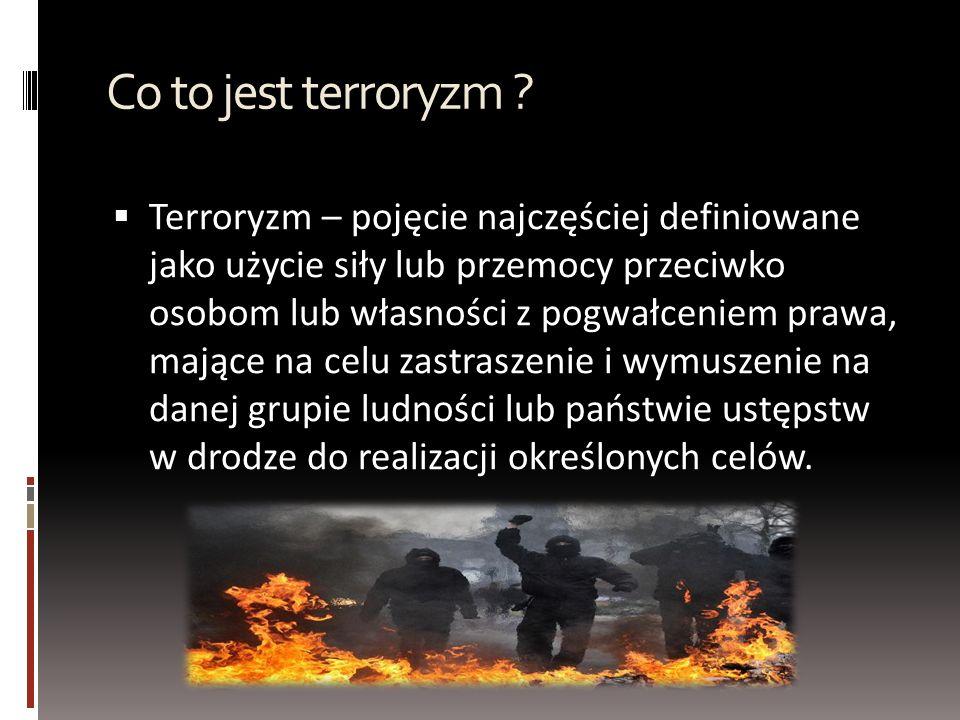 Co to jest terroryzm