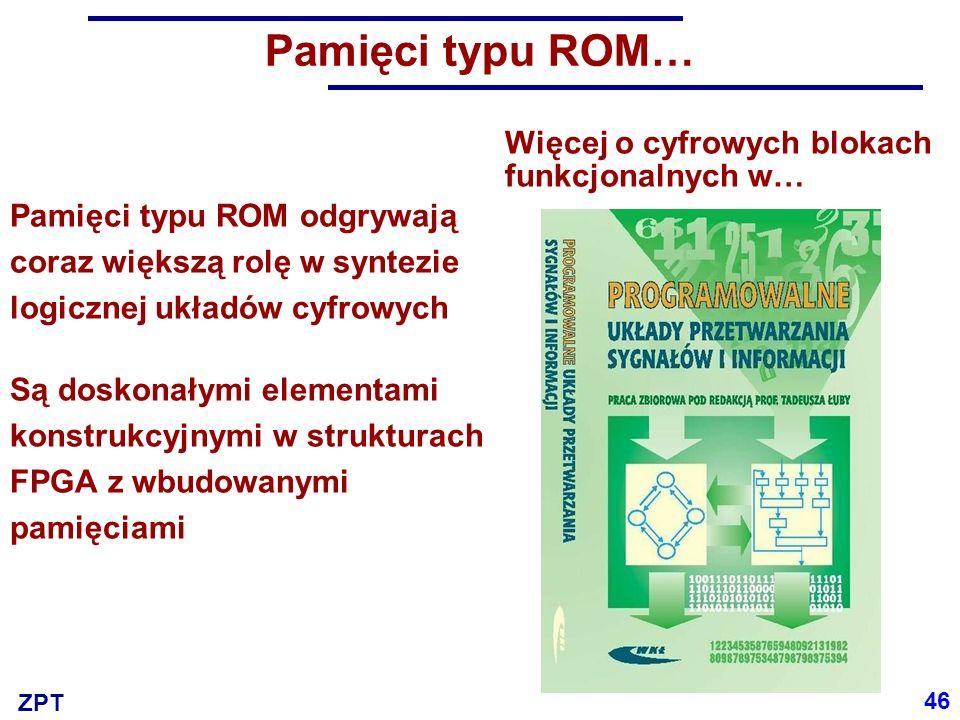 Pamięci typu ROM… Więcej o cyfrowych blokach funkcjonalnych w…