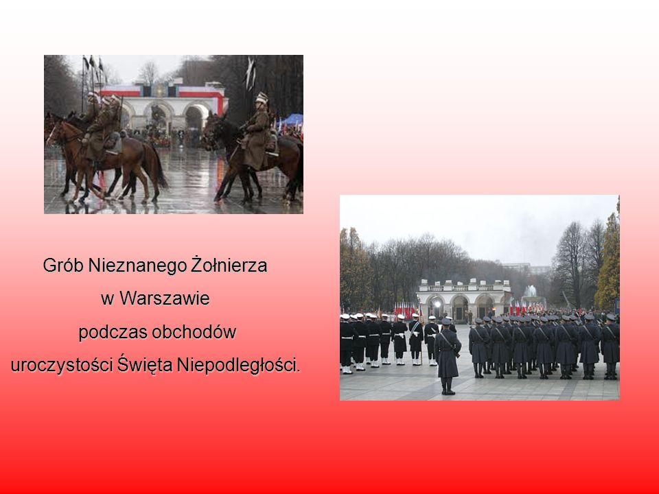 Grób Nieznanego Żołnierza w Warszawie podczas obchodów