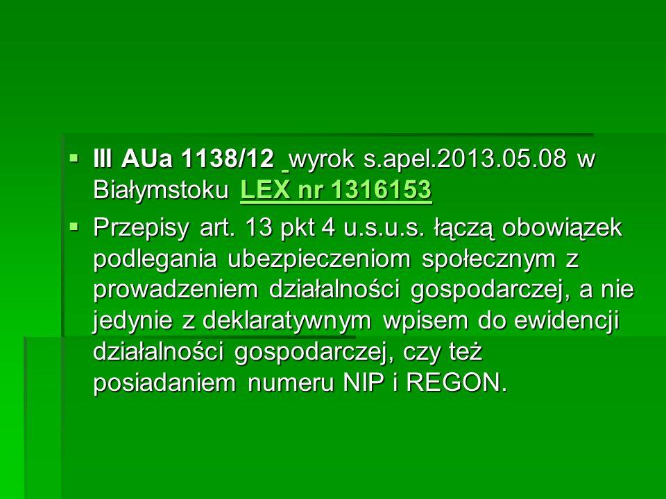 III AUa 1138/12 wyrok s.apel.2013.05.08 w Białymstoku LEX nr 1316153