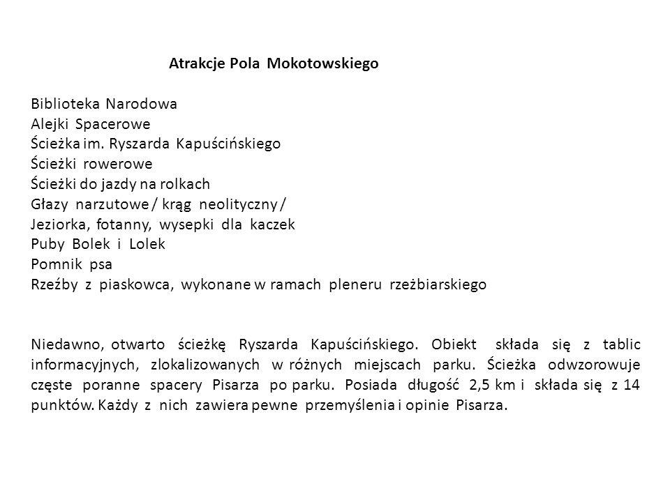 Atrakcje Pola Mokotowskiego