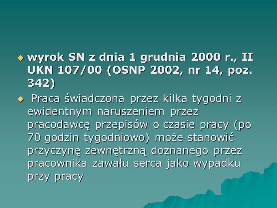 wyrok SN z dnia 1 grudnia 2000 r